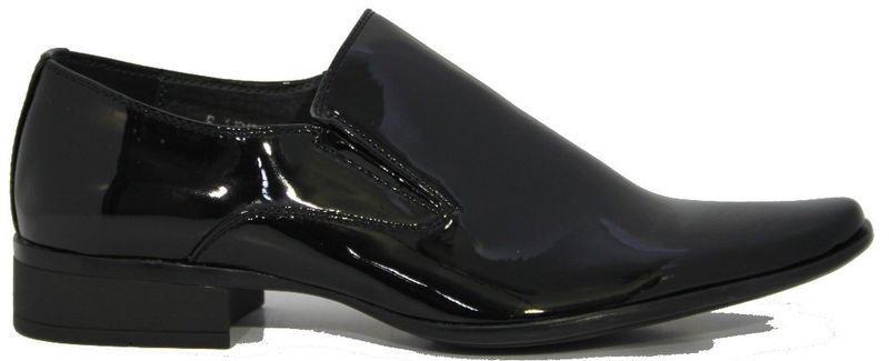 see buy smile s shiny black patent leather look